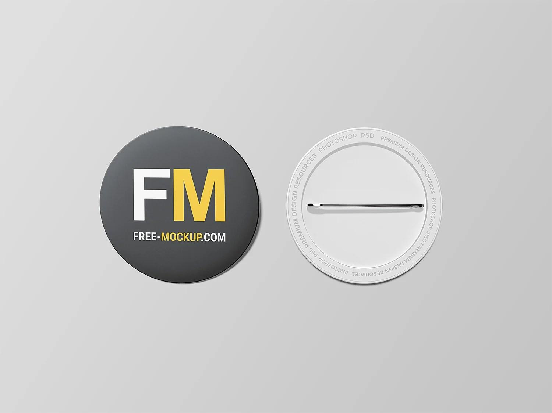Pin Button Badge Mockup Free Mockup