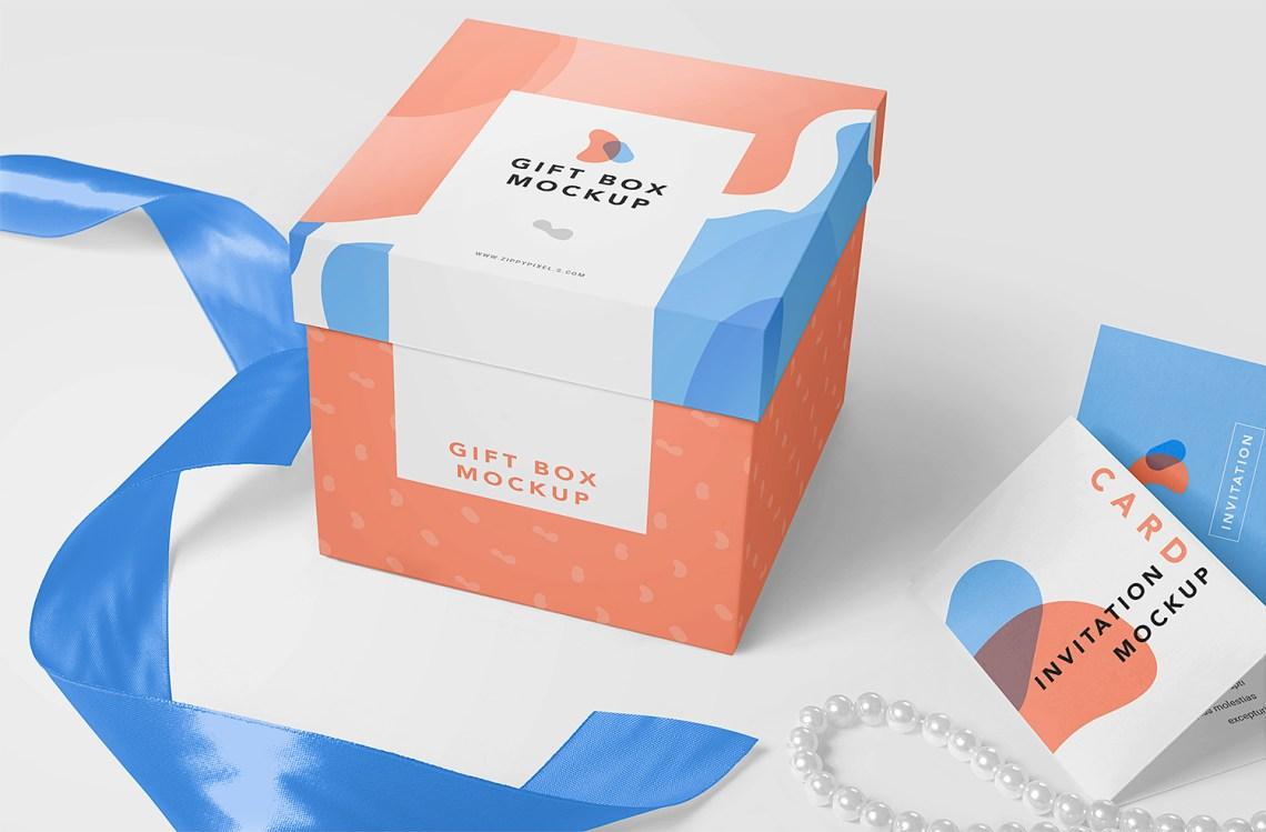 Download Free Gift Box Mockup PSD | Free Mockup