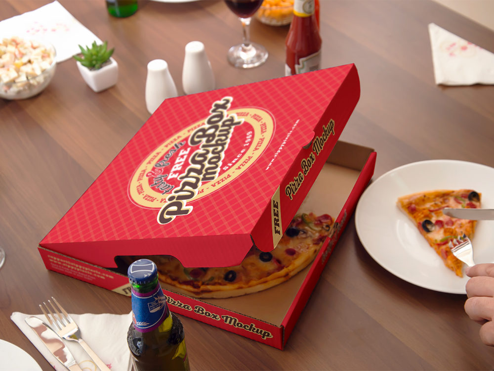 Download Pizza Mockup Free PSD | Free Mockup