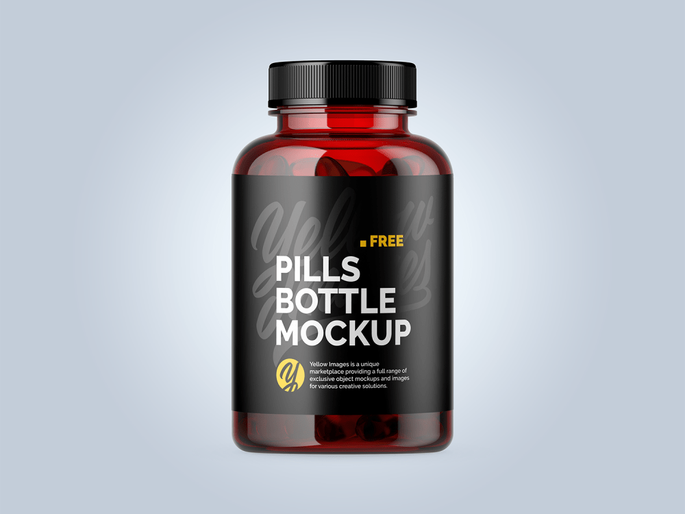 Download Free Mockup Psd Bottle Yellow Images