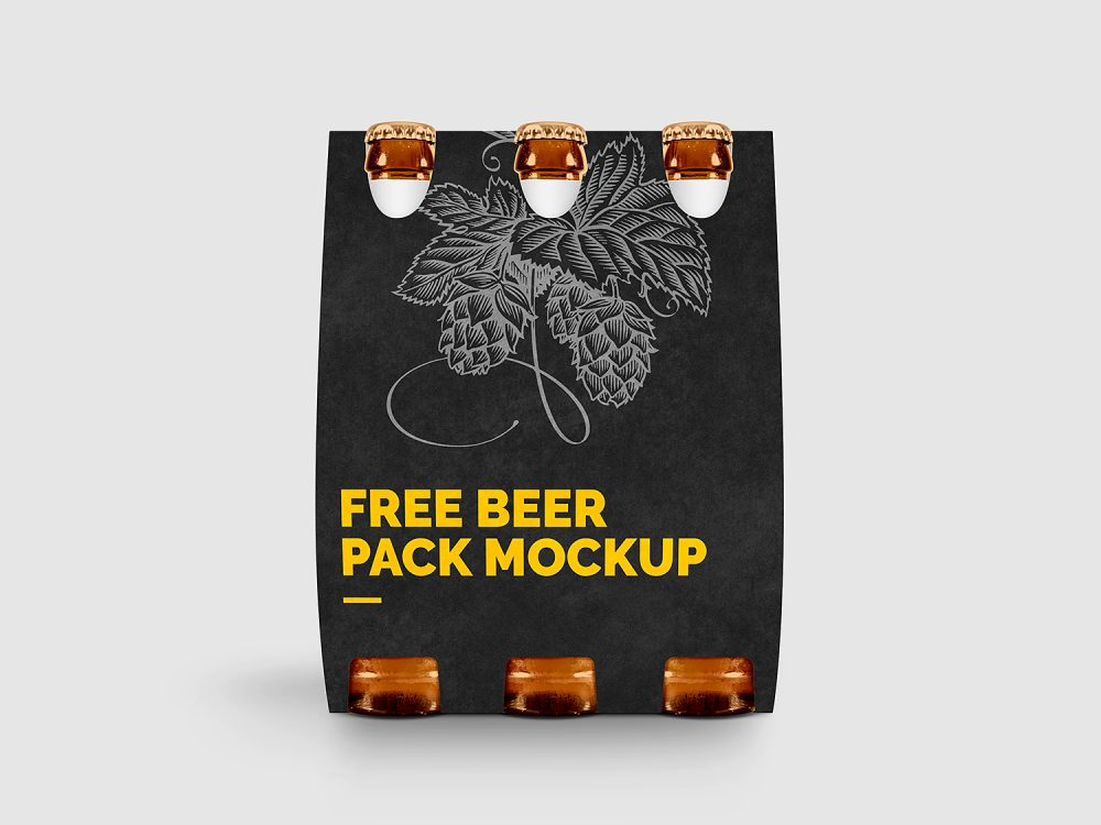 Download Free Beer Pack Mockup | Free Mockup