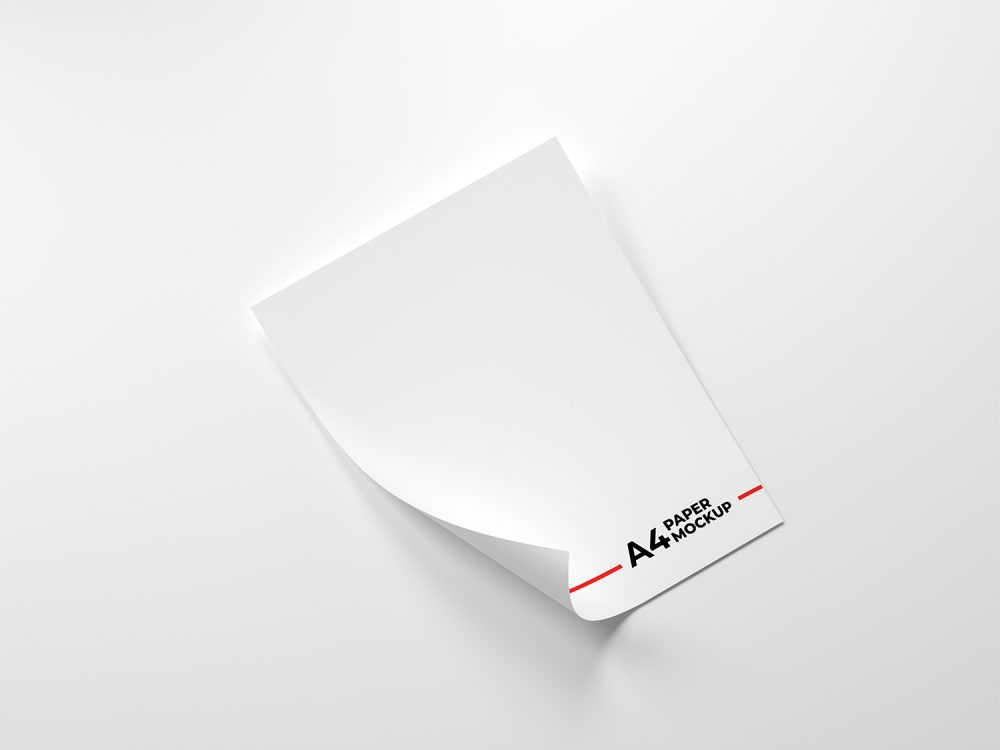 Folded-A4-Paper-Free-Mockup | Free Mockup