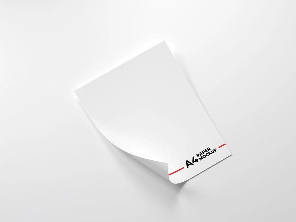 Download Folded-A4-Paper-Free-Mockup | Free Mockup