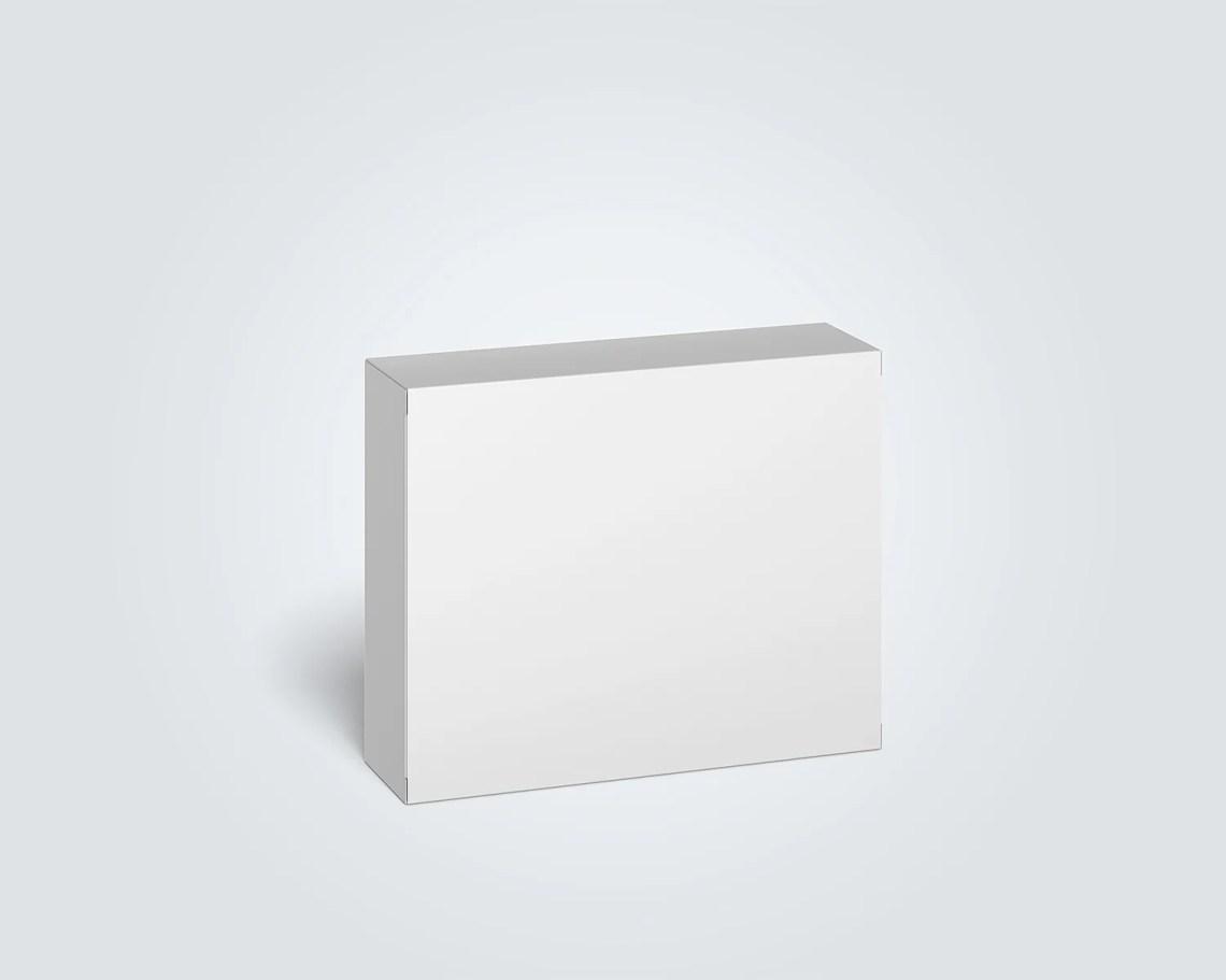 Download Cardboard Box Mockup (100 x 80 x 28 mm) | Free Mockup