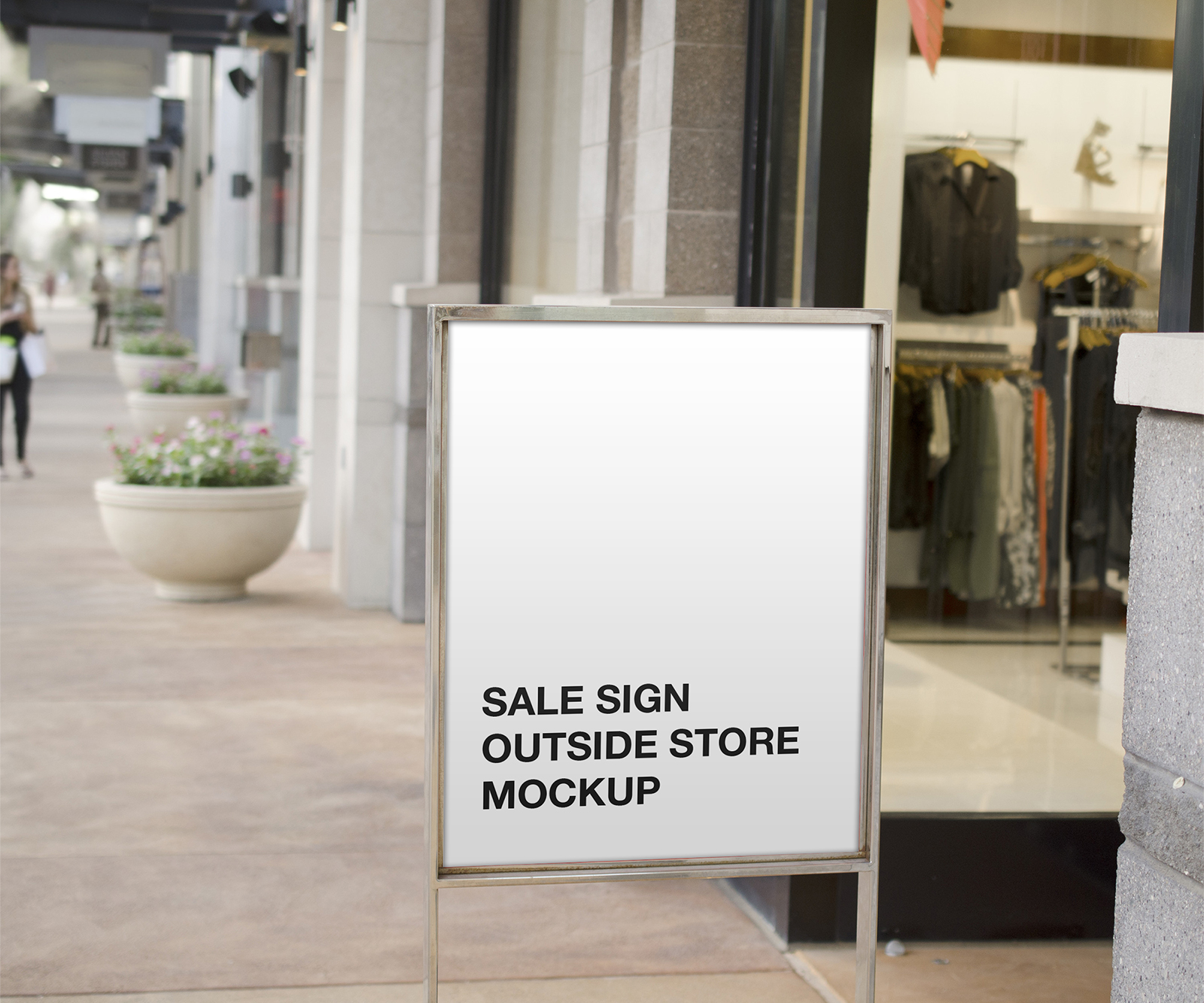 Browse our gallery of professionally designed retail signs and templates. Sale Sign Outside Store Mockup Free Mockup