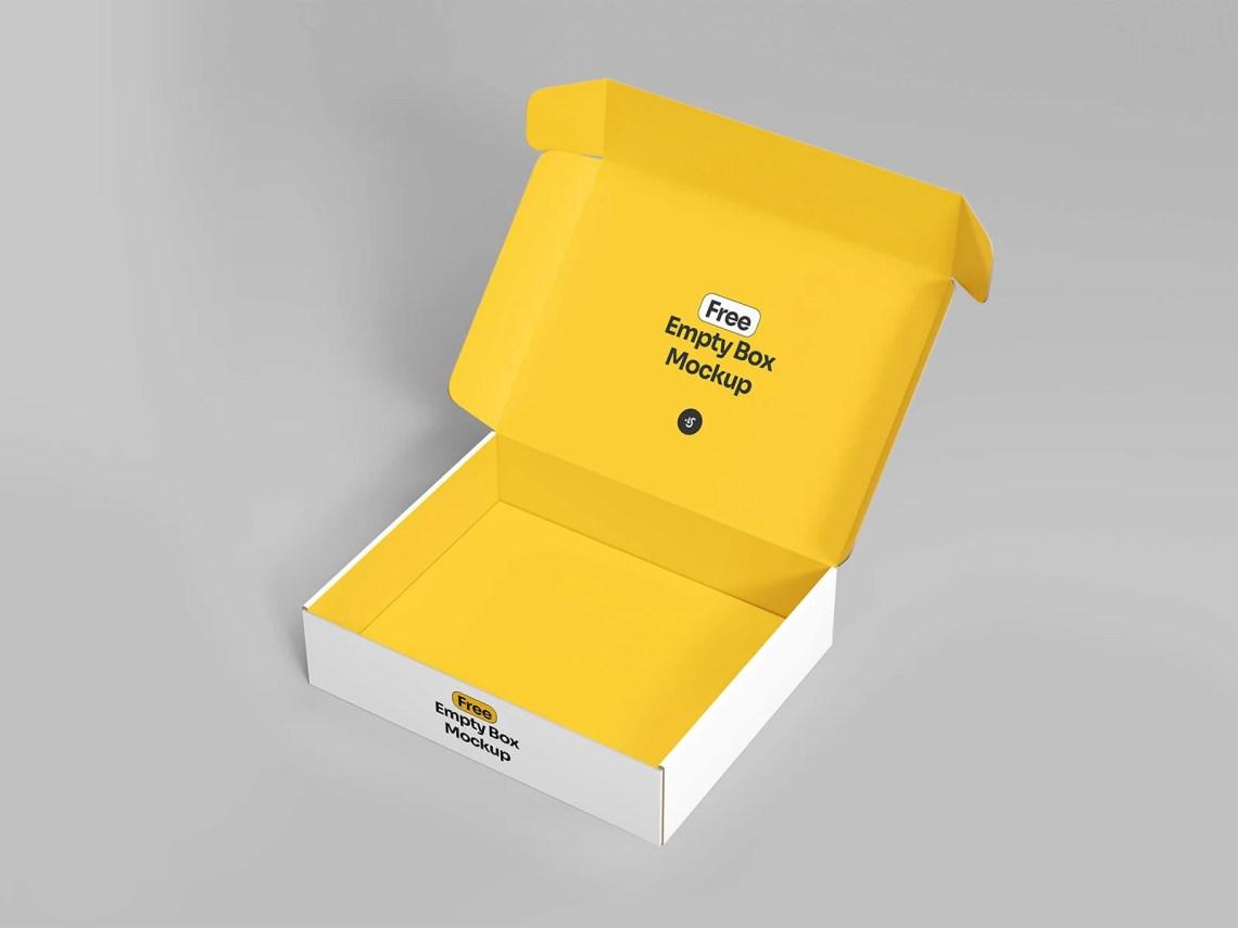 Download Free Open Empty Box Mockup | Free Mockup