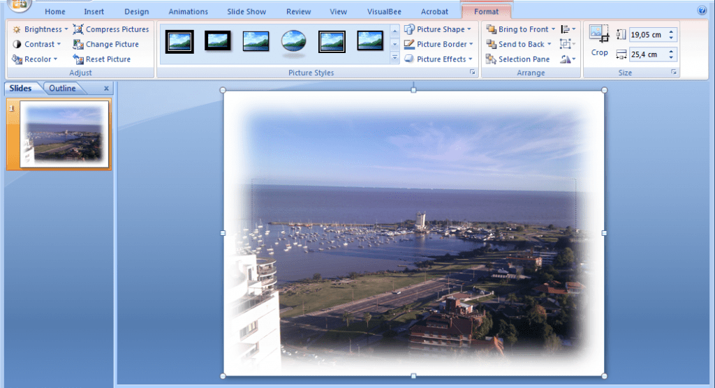 How To Blur Borders In PowerPoint 2007