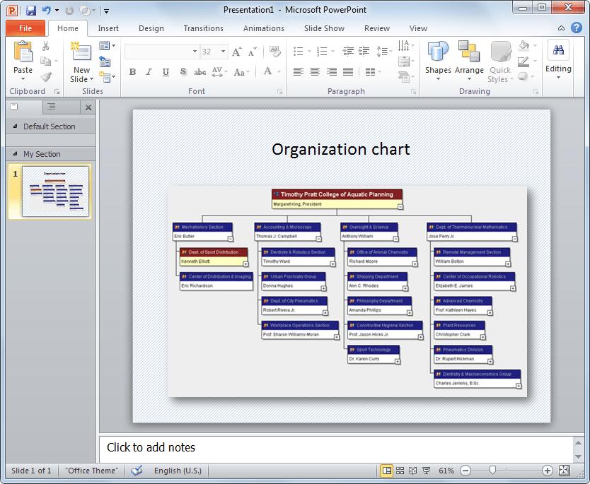 org chart template powerpoint