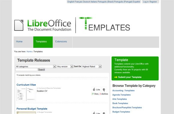 LibreOffice templates for presentations