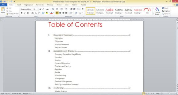 Table of contents template powerpoint 2007 microfinanceindia word table contents template maxwellsz