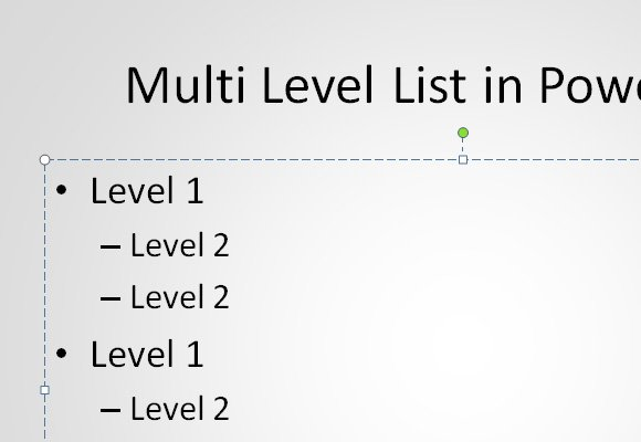 How to Create a Multi-level List in PowerPoint