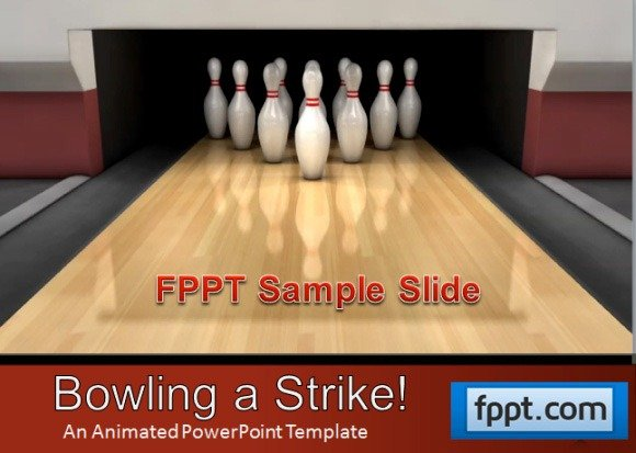 Animated Bowling Template For PowerPoint Presentations