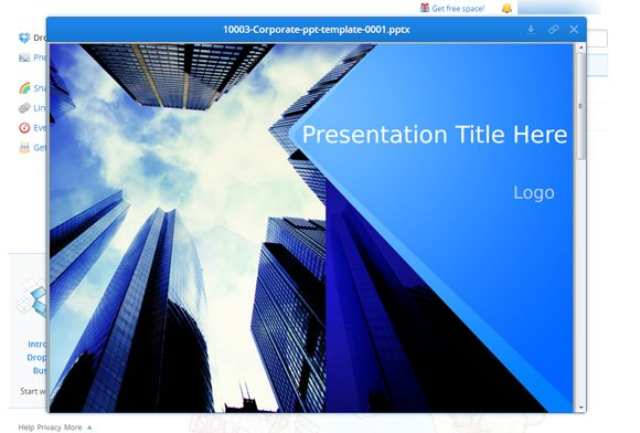 Preview Your Documents and PowerPoint Presentations using Dropbox
