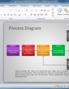 Free process flow diagram template for powerpoint also how to make  flowchart in rh power point templates