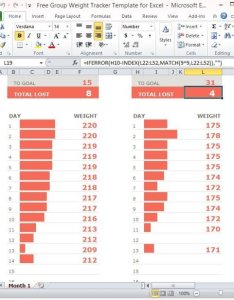 Free group weight tracker template for excel also rh power point templates