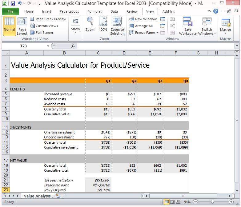 financial model templates excel