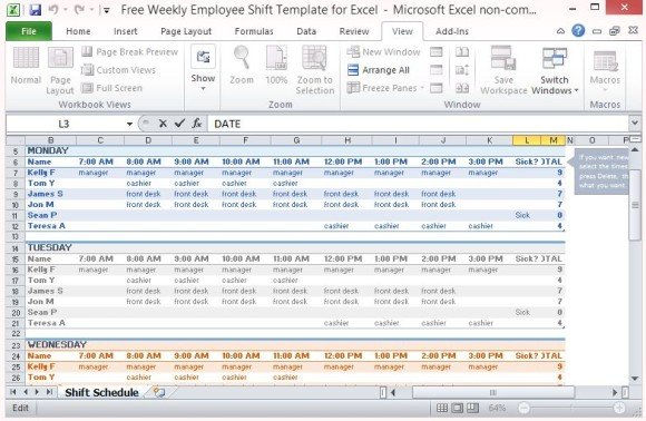 employee weekly schedule template excel - April.onthemarch.co