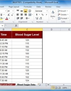 Blood sugar chart template for excel also tracker rh free power point templates