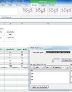 Select blood pressure data also create your chart with free excel template rh power point templates