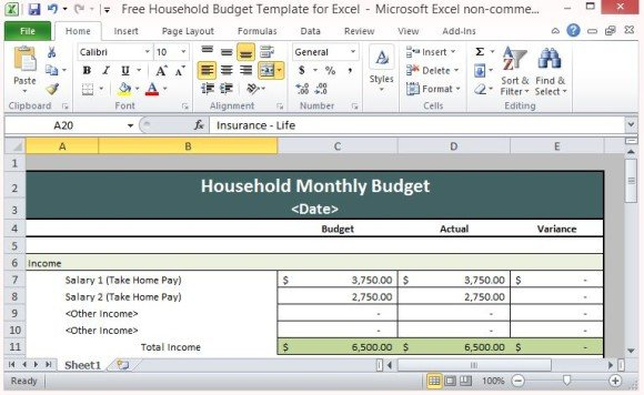 household excel budget template - April.onthemarch.co