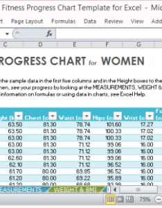 Calculate for your bmi and other data the fitness progress chart template excel also rh free power point templates