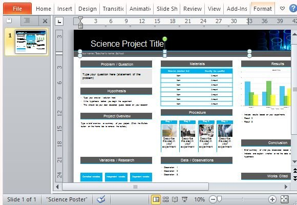 science poster project template