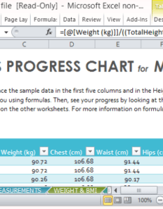 Progress chart for men also fitness template excel rh free power point templates