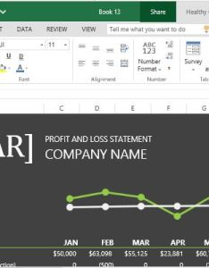 Beautiful profit and loss statement with chart also fppt rh free power point templates