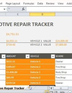 Special expense tracker for vehicle repairs also car repair template excel rh free power point templates