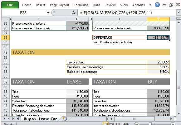 lease calculation spreadsheet