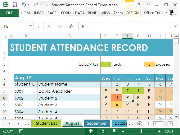 excel templates for teachers
