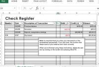 Pictures Check Register Worksheet - Getadating