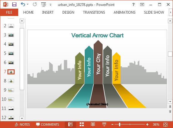animated urban info powerpoint