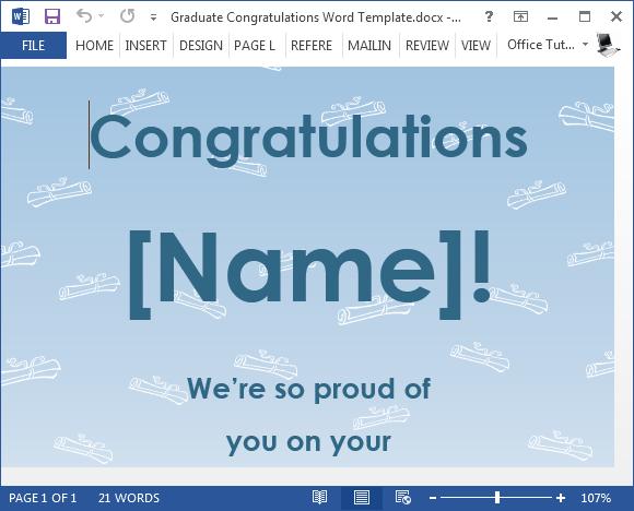 free graduation congratulations card