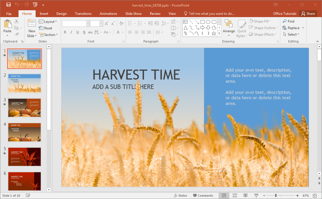 Harvest-Powerpoint-Template