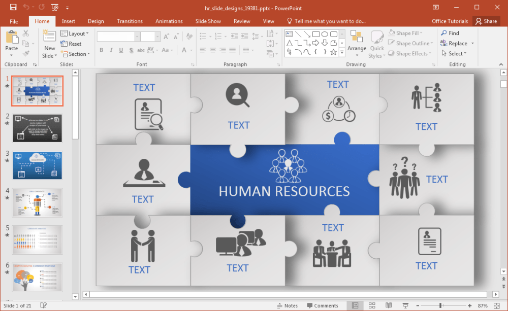medium resolution of animated hr powerpoint template