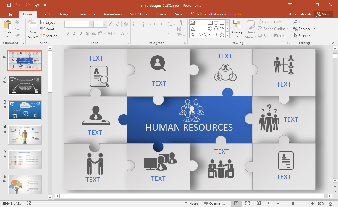hight resolution of animated hr powerpoint template