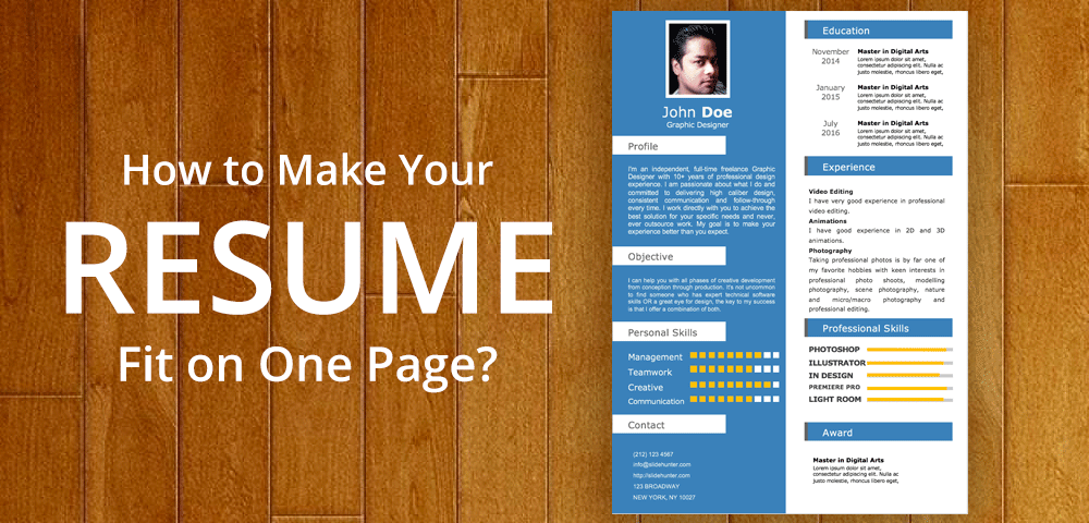 11 Tips To Make Your Resume Fit On One Page