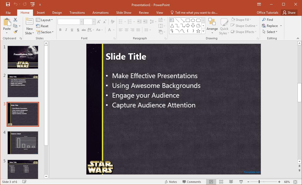 Star Wars Powerpoint Slides