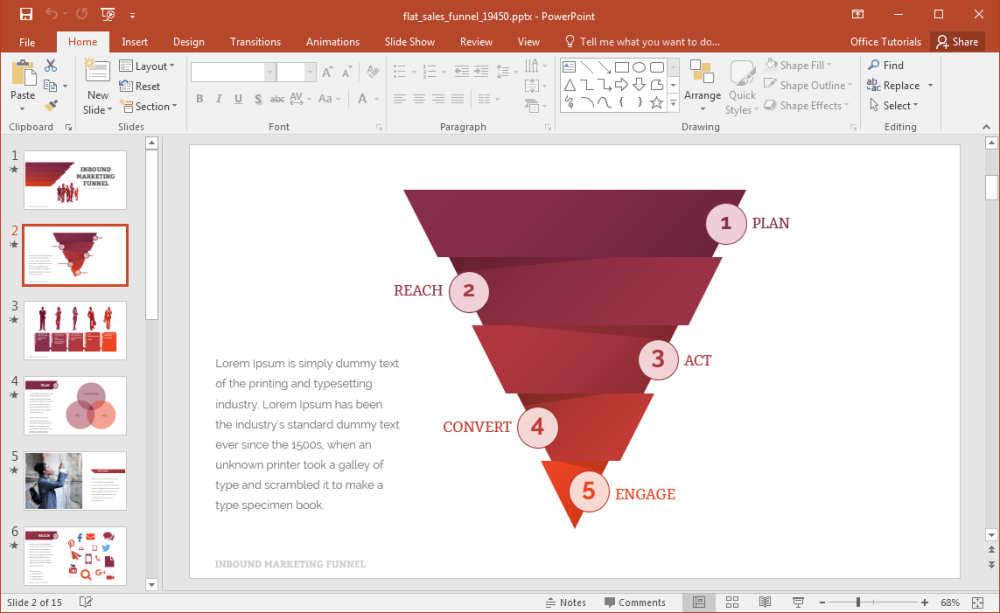 medium resolution of flat sales funnel diagram