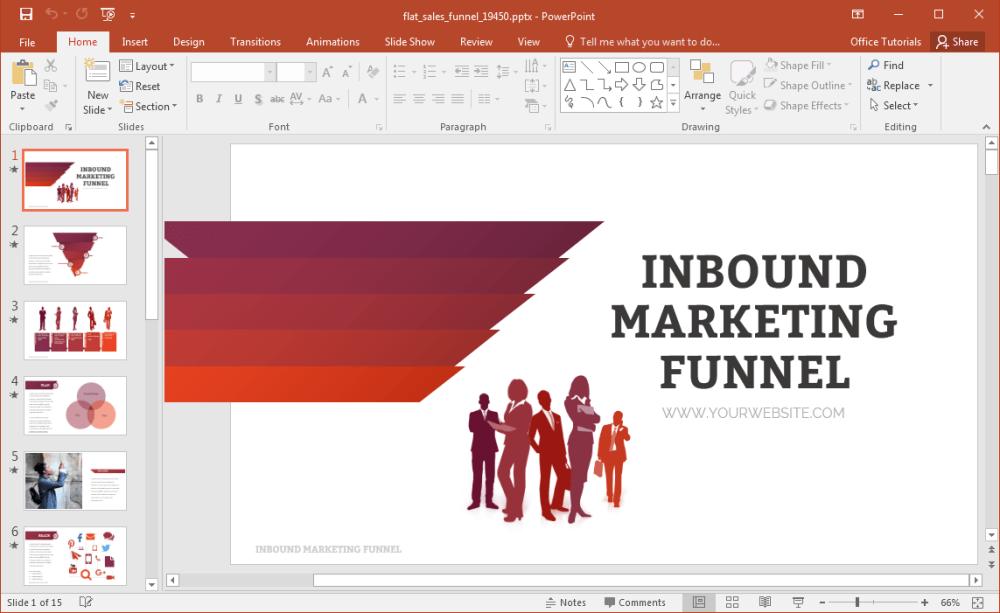 medium resolution of flat sales funnel powerpoint template