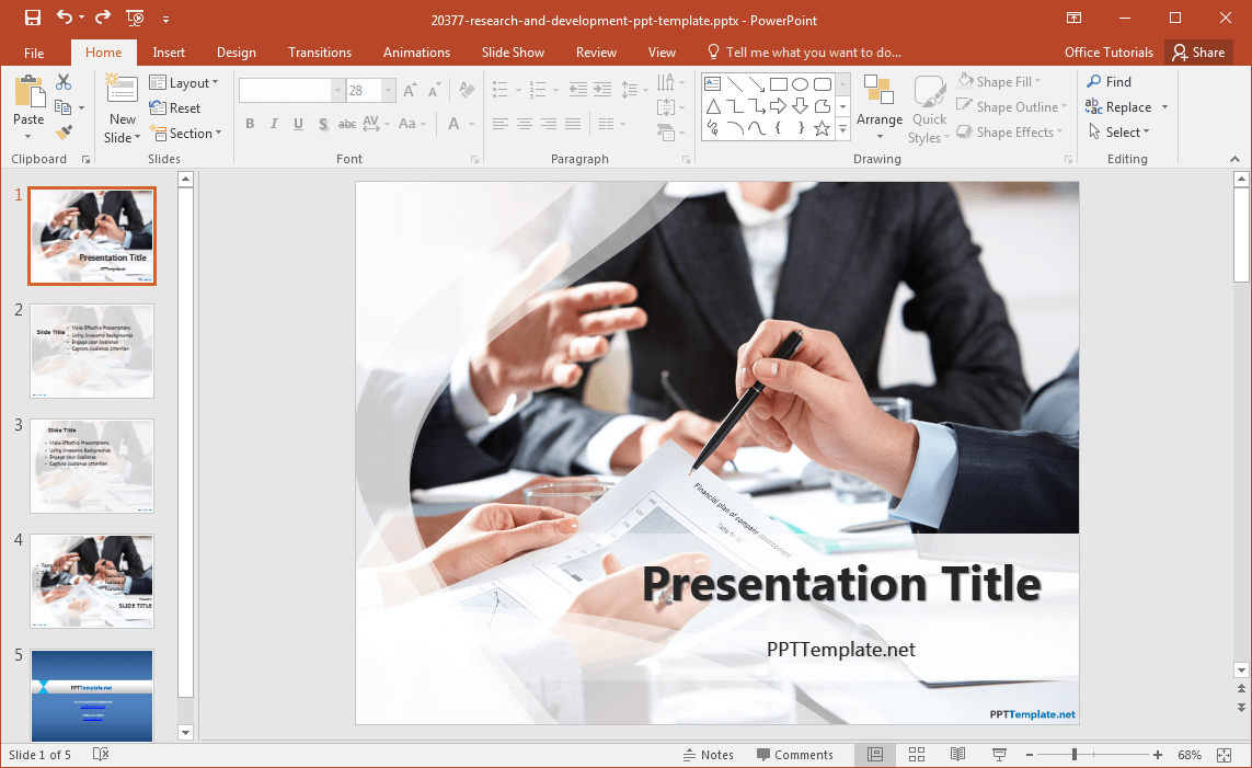 Research Proposal Ppt Template