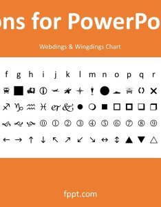 Wingdings webdings chart also  rh free power point templates