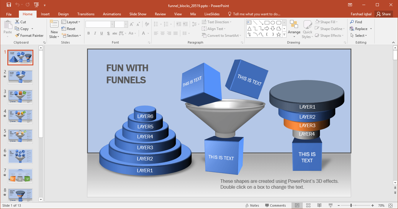 hight resolution of what makes this template different from other funnel diagram templates is the inclusion of blocks to the editable funnel diagrams