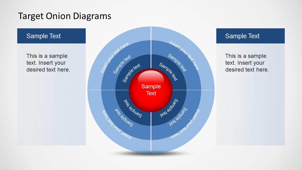 hight resolution of target onion diagram powerpoint template