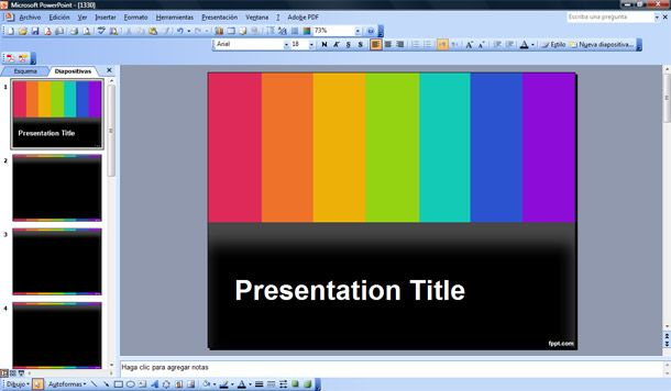 TV PowerPoint Template