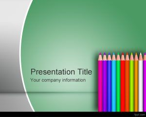 Color School Pencil PowerPoint Template