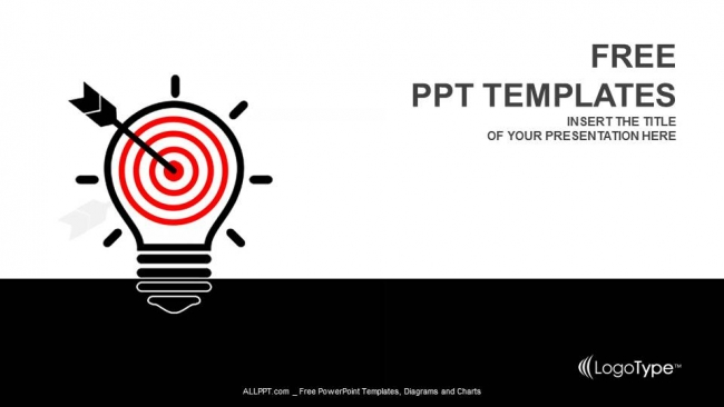 Creative Light Bulb And Target PowerPoint Templates