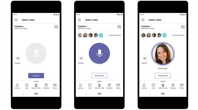 Image result for microsoft teams walkie talkie