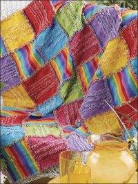 Quilt Patterns - Bed Quilt Patterns - Serger Chenille Throw